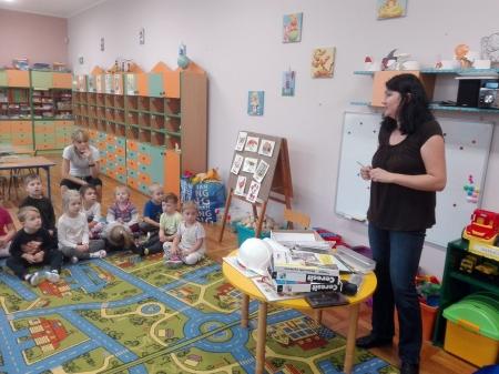 Wizyta architekta w przedszkolu. -w gr III