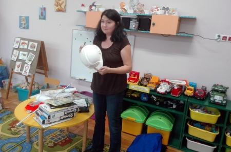 Wizyta architekta w przedszkolu.
